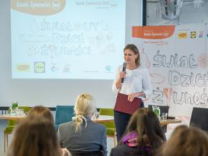 Karolina Zdrodowska, Director & Coordinator for Entrepreneurship and Social Dialogue, speaking at the conference organised by the Food Banks to celebrate the World Food Day