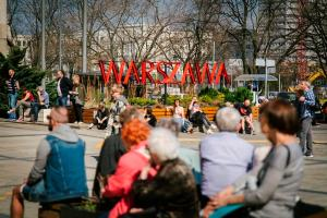 The number of Warsaw residents is growing