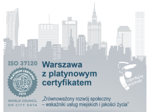 Warsaw receives the ISO 37120 Platinum Certification