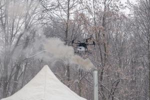 Drones to detect illegal hearths