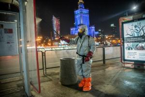 Warsaw's streets are regularly disinfected
