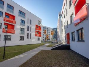 The housing estate on Kłobucka St. includes not only flats but also an extensive community infrastructure.