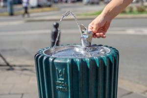 City drinking fountains with Warsaw tap water are ready
