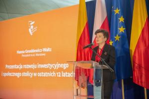 """""""A Warsaw of the future means active residents, a friendly space and an open metropolis.""""- said Hanna Gronkiewicz-Waltz, Mayor of Warsaw."""